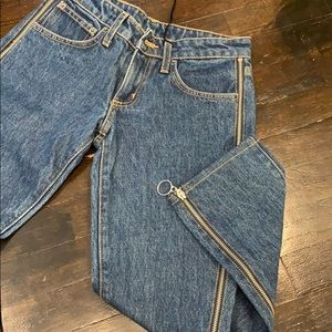 Carmar denim lf jeans with side zippers(desdemona)